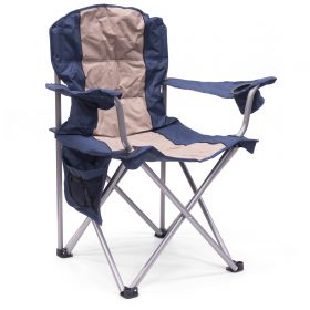 BIG BOY PADDED FOLDING CHAIR - BLUE/BEIGE