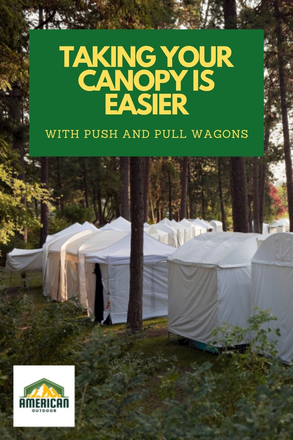 Take Your Canopy Wherever You Go With Push and Pull Wagons